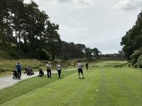 Looking down the first at Parkstone