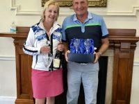 Winners of the Nottingham Mixed Pairs - Derek & Jane Shiels