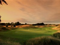 BIRKDALE, UNITED KINGDOM - AUGUST 01:  A view from behind the green on the par 4, 11th hole at Hillside Golf Club on August 1, 2009 in Birkdale, England.  (Photo by David Cannon/Getty Images)