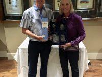 The Mere Mixed Pairs Winners - John & Hilary Rusby