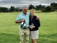 Queen's course runners-up  Steve Taylor & Cathy Podevyn