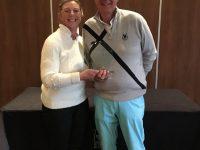 Winners of The Mere Mixed Pairs, John & Alison Moss